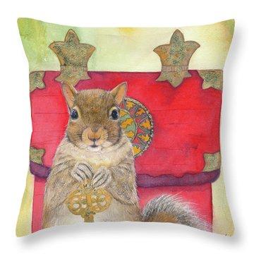 Squirrel Secret Throw Pillow