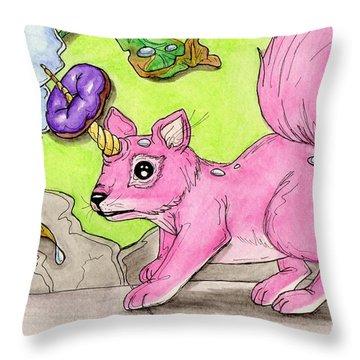 Squirrelicorn Throw Pillow