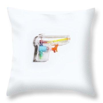Squirt Gun Throw Pillow