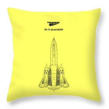 Sr-71 Blackbird Throw Pillow by Mark Rogan