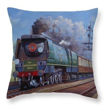 Sr Merchant Navy Pacific Throw Pillow by Mike  Jeffries