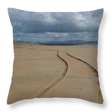 Srah Beach Claggan Island Throw Pillow