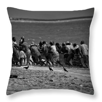 Sri Lankan Fishermen Throw Pillow