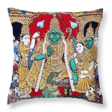 Sri Ramar Pattabhishekam Throw Pillow