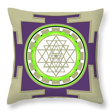 Sri Yantra Of Prosperity Throw Pillow