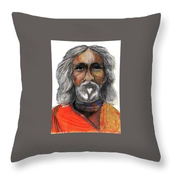 Sri Yukteswar Giri Throw Pillow