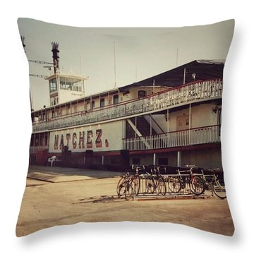 Ss Natchez, New Orleans, October 1993 Throw Pillow