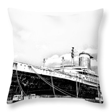 Ss United States Throw Pillow by Bill Cannon