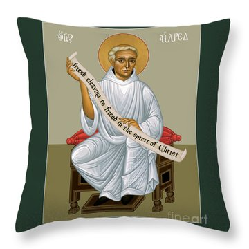 St. Aelred Of Rievaulx - Rlaor Throw Pillow