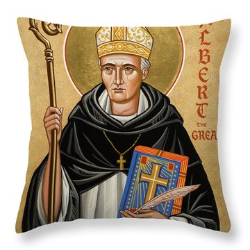 St. Albert The Great - Jcatg Throw Pillow