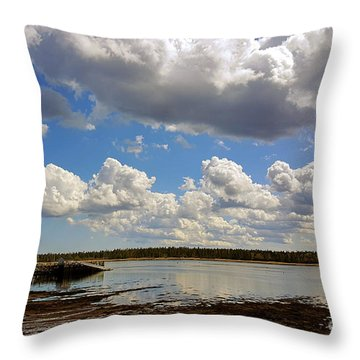 St. Andrews At Low Tide Throw Pillow