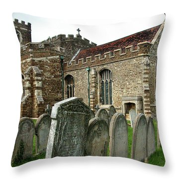 Church Of All Saints, Houghton Conquest, Uk Throw Pillow