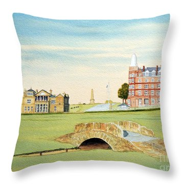 St Andrews Golf Course Scotland Classic View Throw Pillow