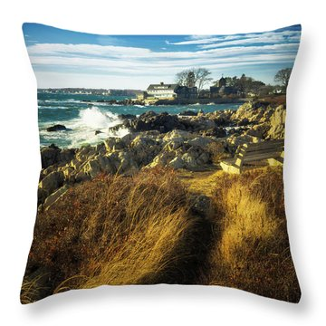 Throw Pillow featuring the photograph St. Anne's Church-kennebunk, Maine by Samuel M Purvis III