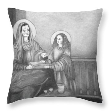 St. Anne And Bvm Throw Pillow