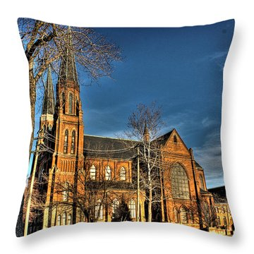 St. Annes Detroit Mi Throw Pillow