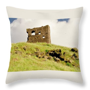 St. Anthony's Chapel Ruins. Throw Pillow