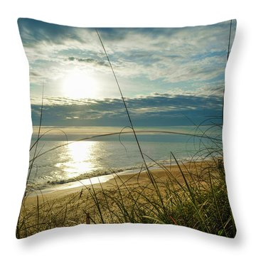 St Aug Sunrise Throw Pillow