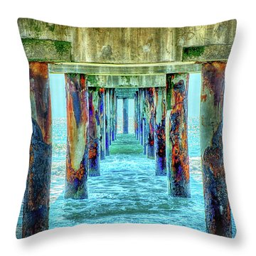 Throw Pillow featuring the photograph St. Augustine Beach by Louis Ferreira