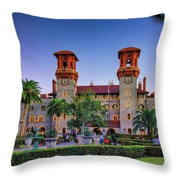 St. Augustine, Fl - Lightner Lights Throw Pillow