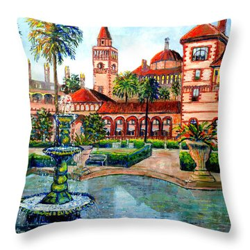 St Augustine Florida Throw Pillow