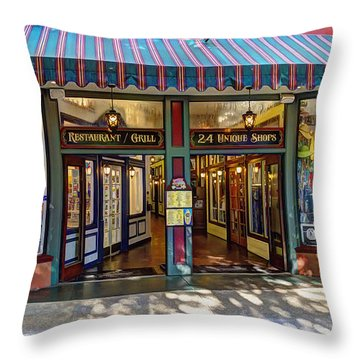 St Augustine Indoor Mall Throw Pillow