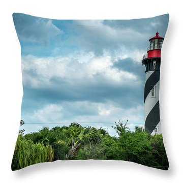 Throw Pillow featuring the photograph St. Augustine Lighthouse by Louis Ferreira