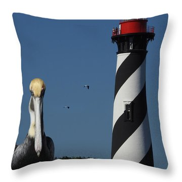 Throw Pillow featuring the photograph St. Augustine Lighthouse by Rod Seel