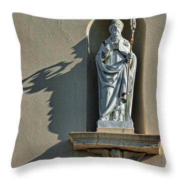 St. Augustine Of Hippo Throw Pillow