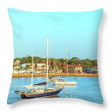 St Augustine Panorama Throw Pillow by Sebastian Musial