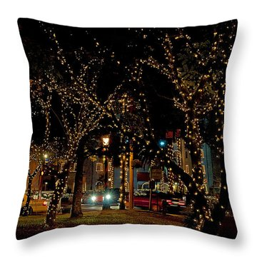 St. Augustinelights3 Throw Pillow