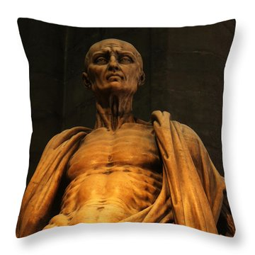 St. Bartholomew In Milan Cathedral By Marco D'agrate Throw Pillow