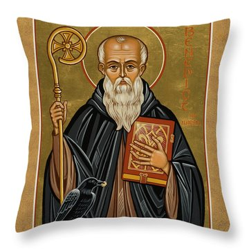 St. Benedict Of Nursia - Jcbnn Throw Pillow