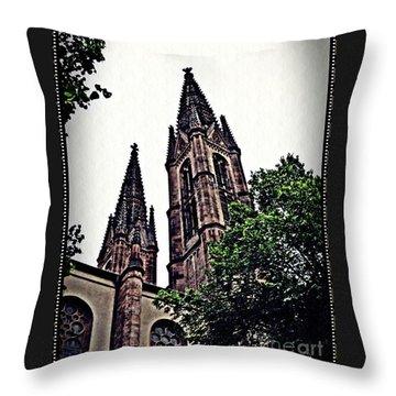 St Boniface Church Towers   Throw Pillow by Sarah Loft