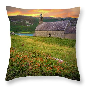 St. Brendan The Navigator Church Of Ireland In Crookhaven Throw Pillow
