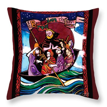 St. Brendan The Navigator - Mmbre Throw Pillow