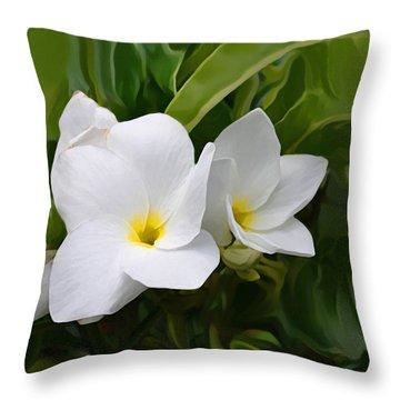St. Cecelias' Floral Show Throw Pillow
