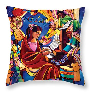 St. Cecilia - Mmcca Throw Pillow