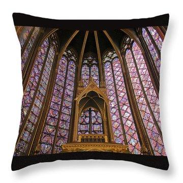 St Chapelle Paris Throw Pillow by Alan Toepfer