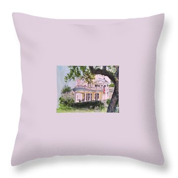 St Charles @ Valance New Orleans Throw Pillow