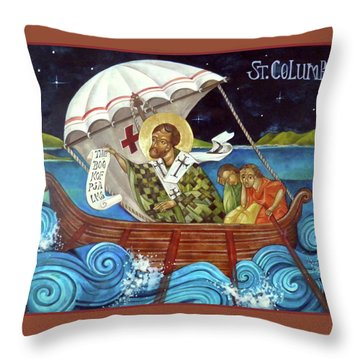 St Columbo Throw Pillow