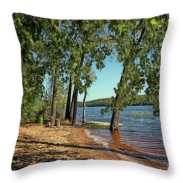 St Croix River Shoreline Throw Pillow