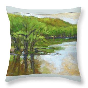 St. Croix, Spring Flood Throw Pillow