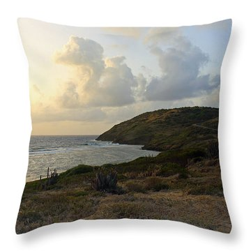 St. Croix Sunrise  Throw Pillow by Mary Haber