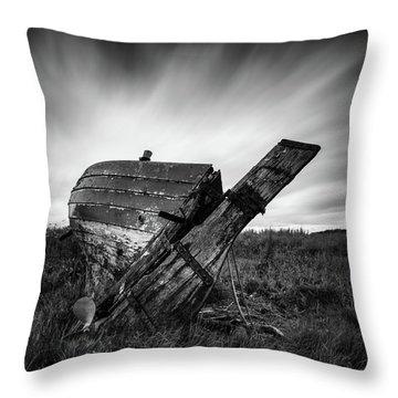St Cyrus Wreck Throw Pillow