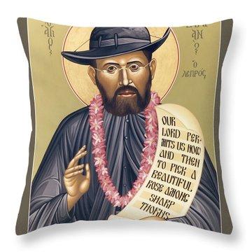 St. Damien The Leper - Rldtl Throw Pillow