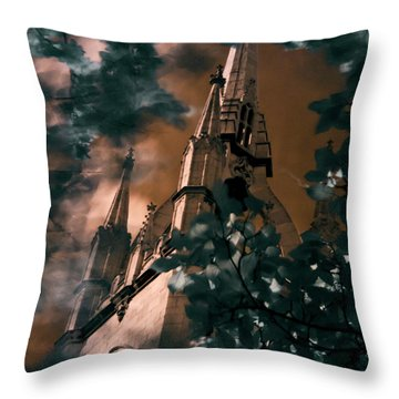 St Dunstan In The East Tower Throw Pillow