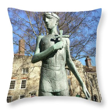 St Edmunds Statue Throw Pillow
