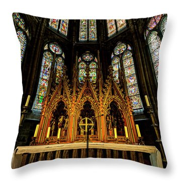 Throw Pillow featuring the photograph St. Elizabeth Church by David Morefield