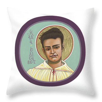 Throw Pillow featuring the painting St Elizabeth Of The Trinity- 295 by William Hart McNichols